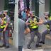 Policiais brigam no centro de SP e um aponta a arma no queixo do outro