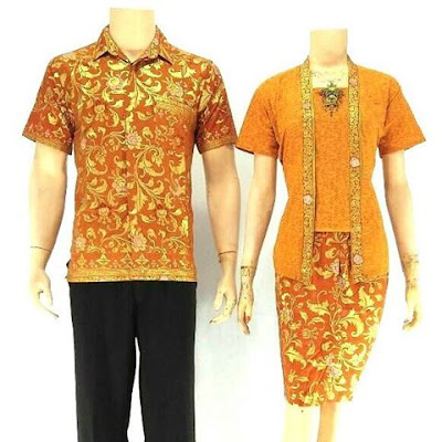 Batik Sarimbit Velisa Rose Orange