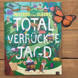 """""""Wilfreds und Olberts total verrückte Jagd"""" von Stephan Lomp, Mitmachbuch aus dem 360 Grad Verlag (Tigerstern), Rezension auf Kinderbuchblog Familienbuecherei"""