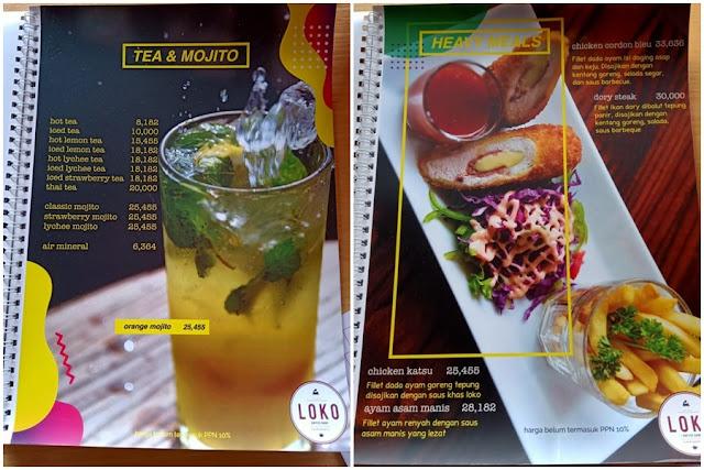 menu loko coffee purwokerto