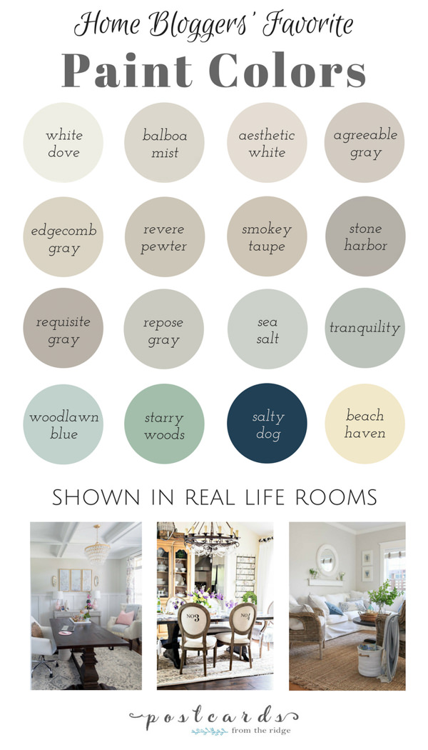 blogger's favorite paint colors