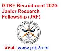 GTRE Recruitment 2020, Junior Research Fellowship (JRF)