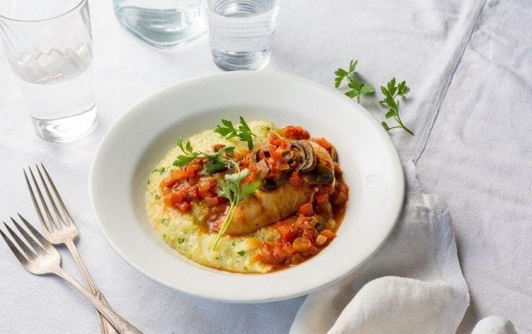 Instant Pot Chicken Cacciatore With Polenta