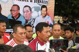 Eratkan Silaturahmi, Polda NTB gelar Olahraga dengan sejumlah pimpinan media