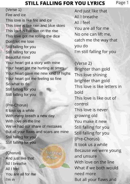 Ellie Goulding - Still Falling For You Lyrics   Tove Lo