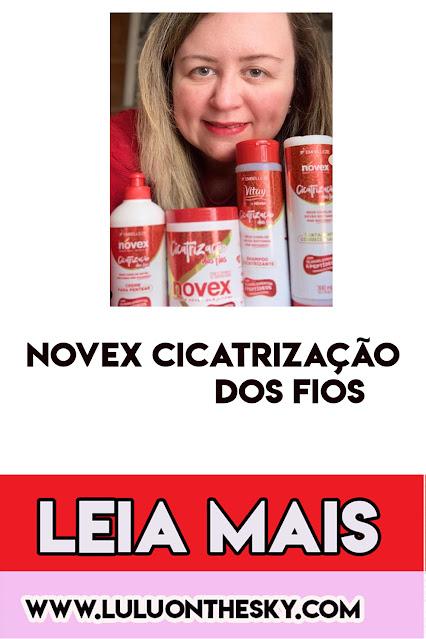 DESCUBRA A LINHA NOVEX CICATRIZAÇÃO DOS FIOS