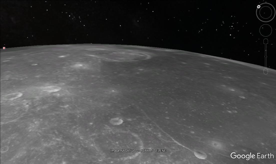how to get to the moon in google earth 2017