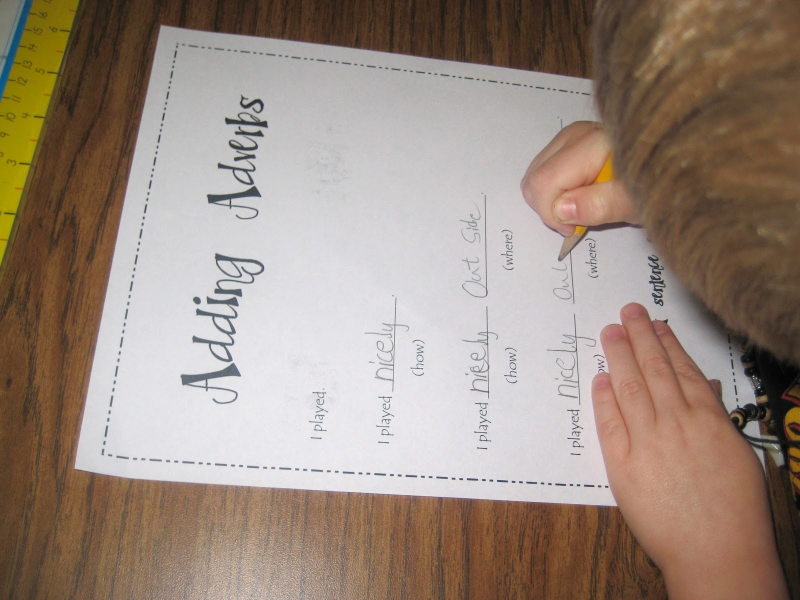 First Grade Wow Adding Adverbs