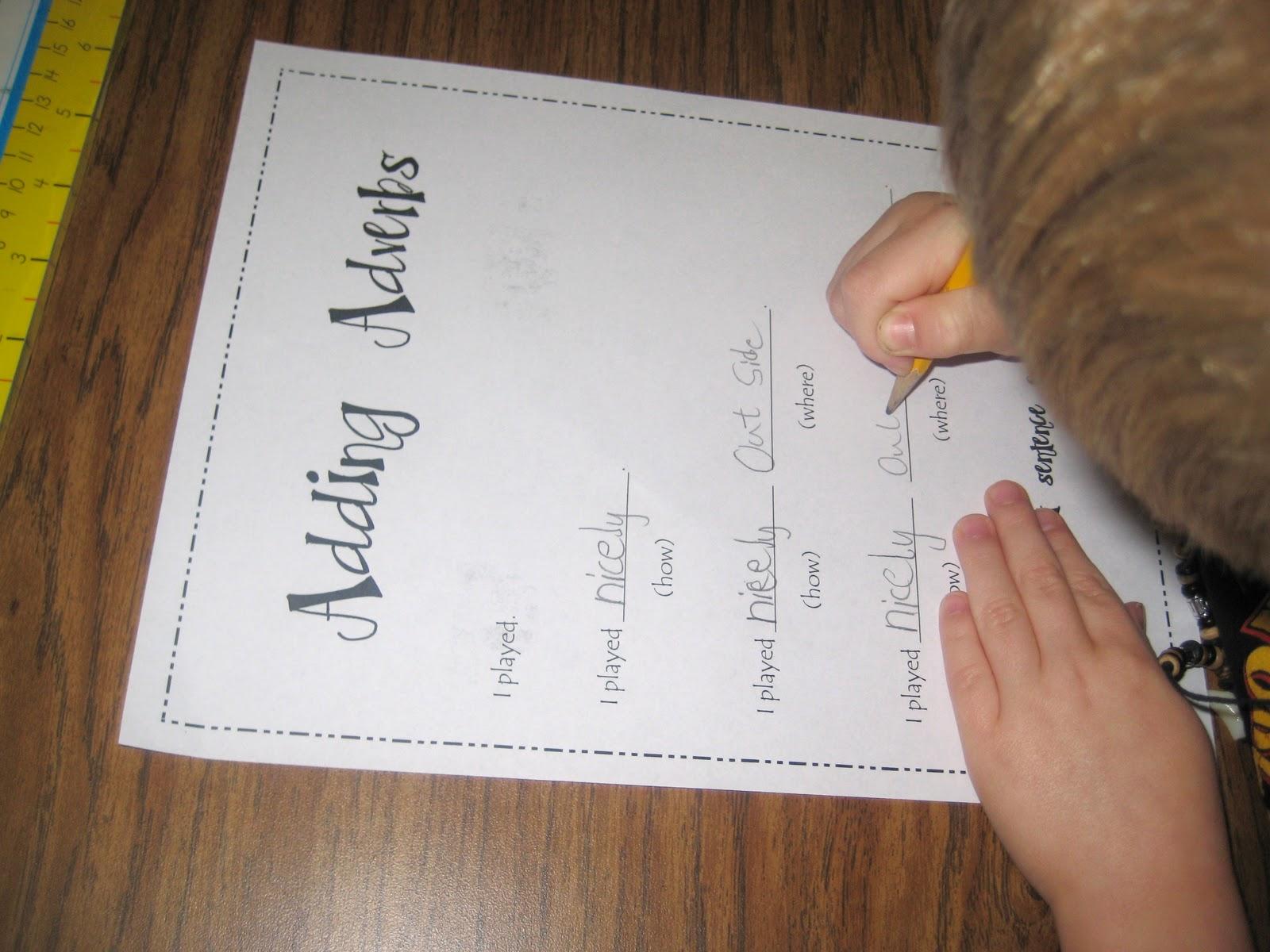 First Grade Wow Adding Adverbs