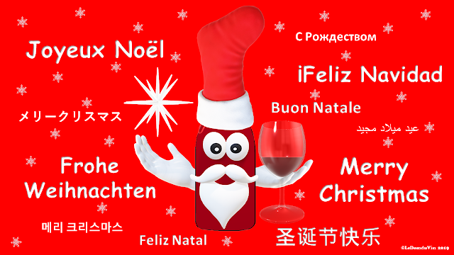 Merry Christmas card with different languages by ©LeDomduVin 2019
