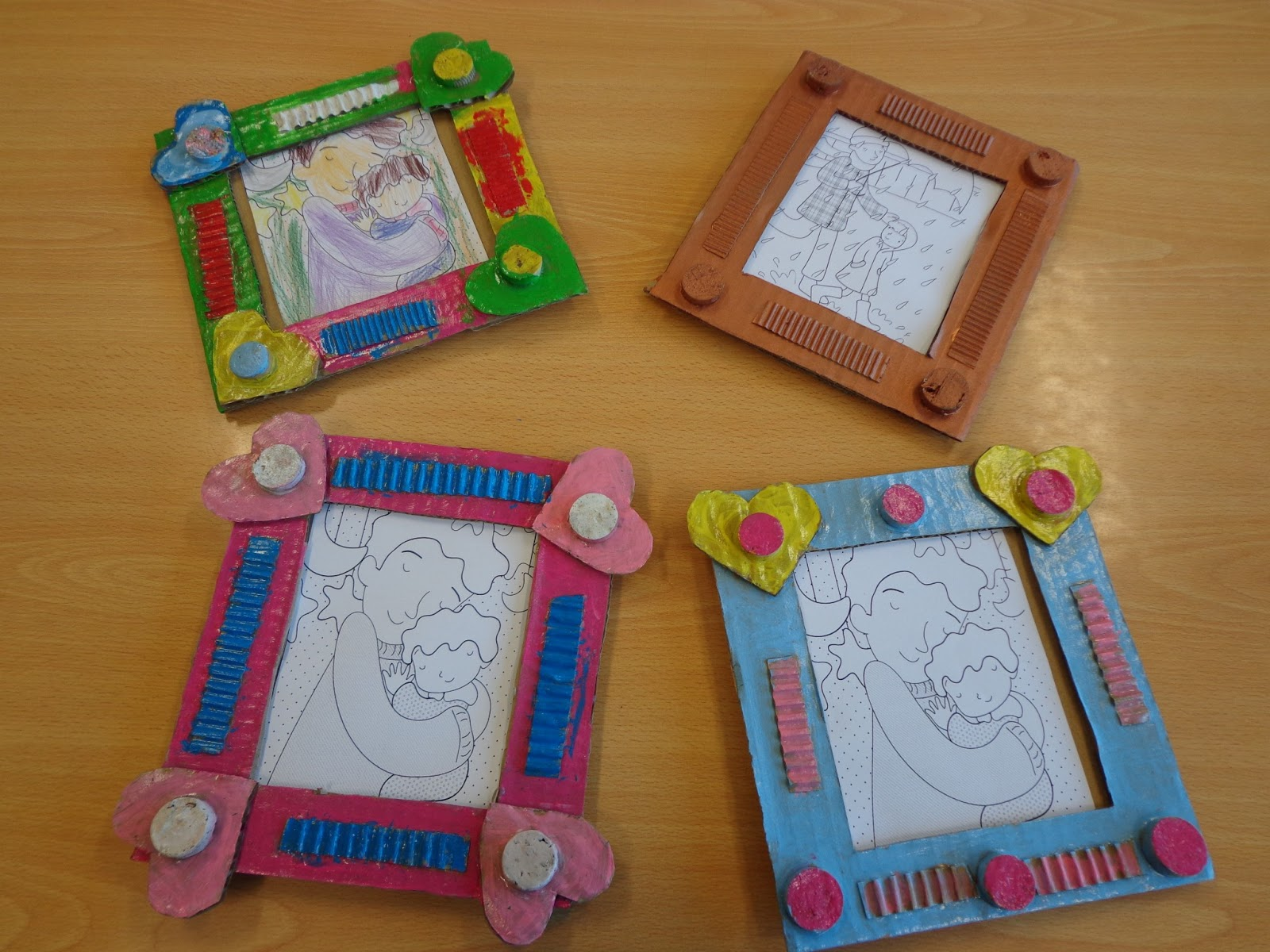 Reuse Crafts Cardboard Picture Frame Craft
