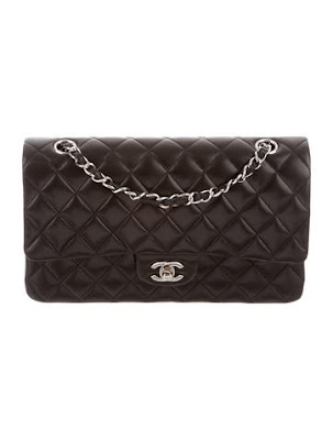 chanel medium classic double flap bag with silver hardware_chanel bag