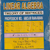 Linear Algebra Theory of Matrices by Professor MD. Abdur Rahman E-Book PDF Free Download