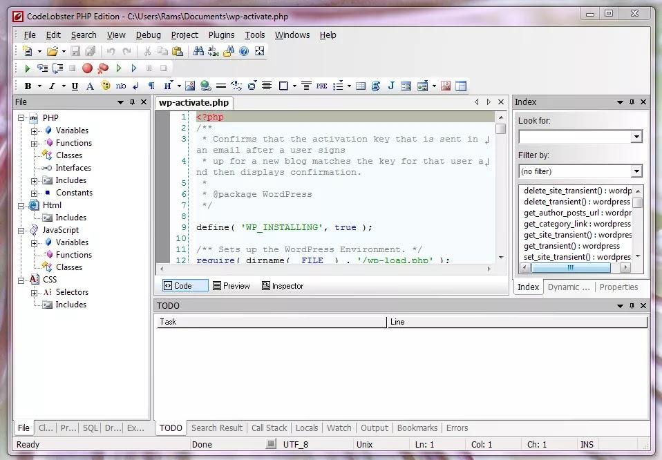 تحميل برنامج CodeLobster IDE Professional 1.11 محرر شفرة وبرنامج مترجم مع الإضافات وأدوات عملية