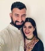 cheteshwar pujara with her wife