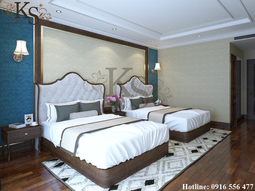 Hình ảnh: Tủ chứa đồ được đặt gần khu vực đầu giường đem đến sự tiện lợi cho khách hàng.