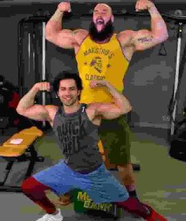 Varun Dhawan With Braun Strowman