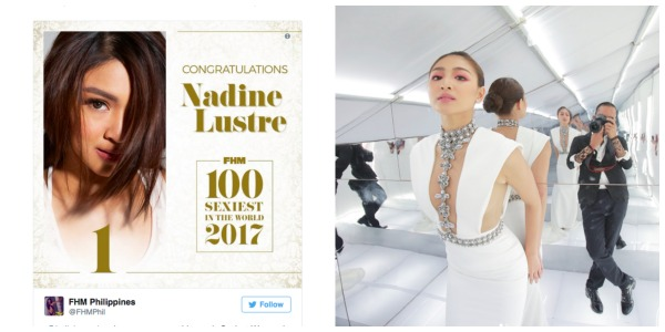 Nadine Lustre is FHM Philippines' 'Sexiest Woman' for 2017