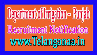 Directorate Of Irrigation – Government of Punjab Recruitment Notification 2017