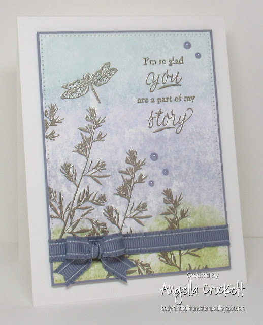 Stampin Up Organic Grace, Pressed Flowers, Part of My Story: Divinity Designs LLC Pierced Rectangles Dies; Card Designer Angie Crockett