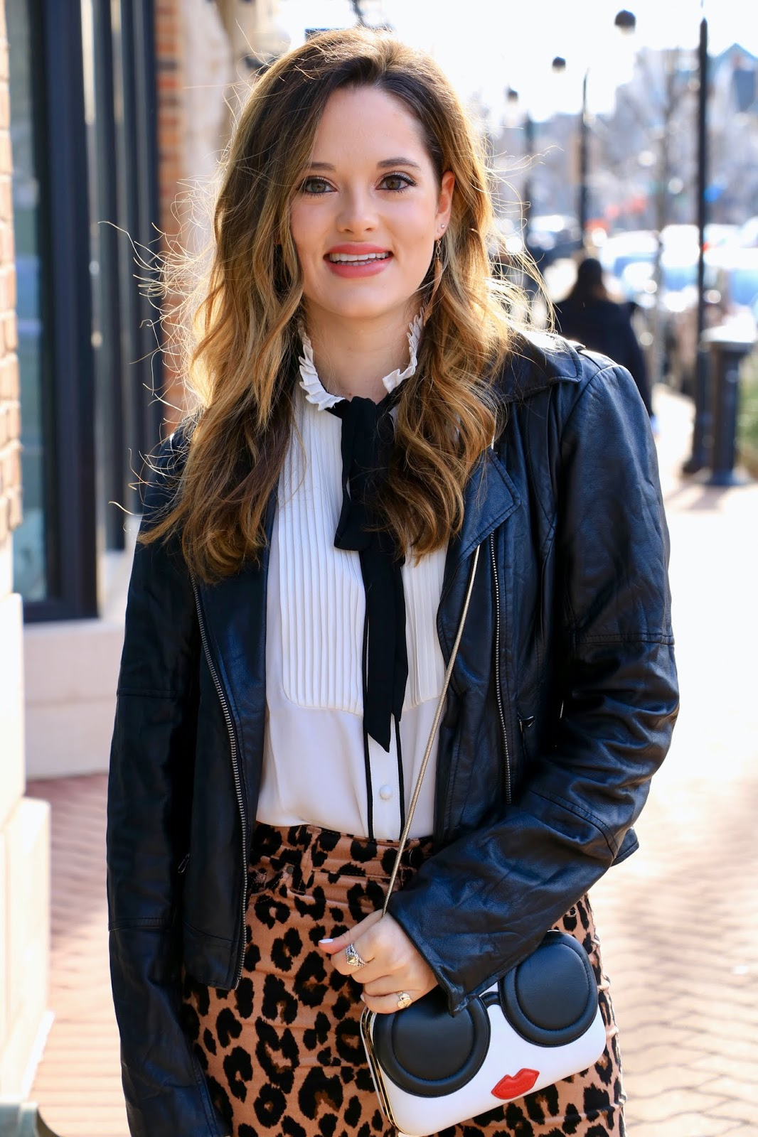 Nyc fashion blogger Kathleen Harper's bowtie blouse outfit