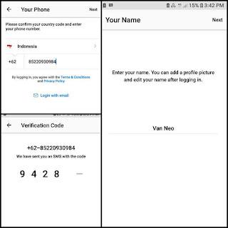 Cara membuat akun bbm id baru di HP android menggunakan Nomor HP