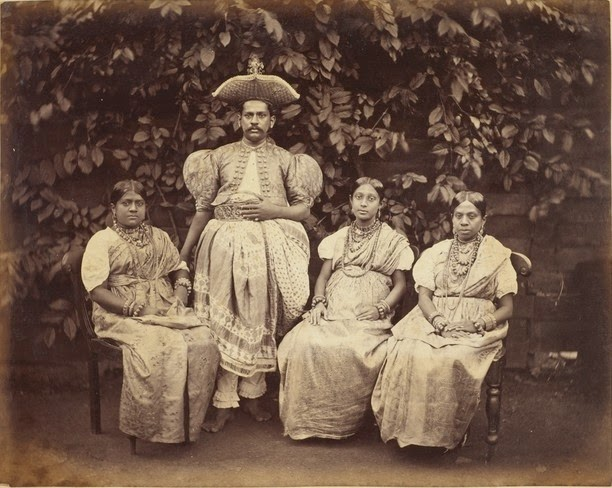 Kandiyan chief with his Family - Sri Lanka (Ceylon) Late 19th Century