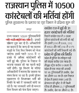 Rajpoliceexamdate | राजस्थान पुलिस वेकन्सी | Raj Police vacancy 2017- 18 For 5390 Constable Bharti