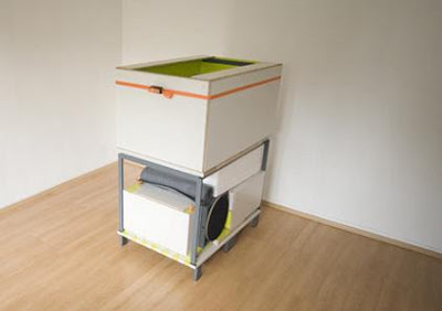 Recamara completa empacada en una caja