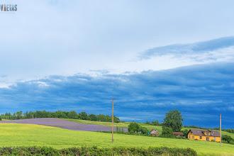 Lauku ainava pie Ventspils-Rīgas šosejas