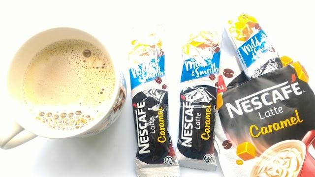 Sedaplah juga Nescafe Latte Caramel ni