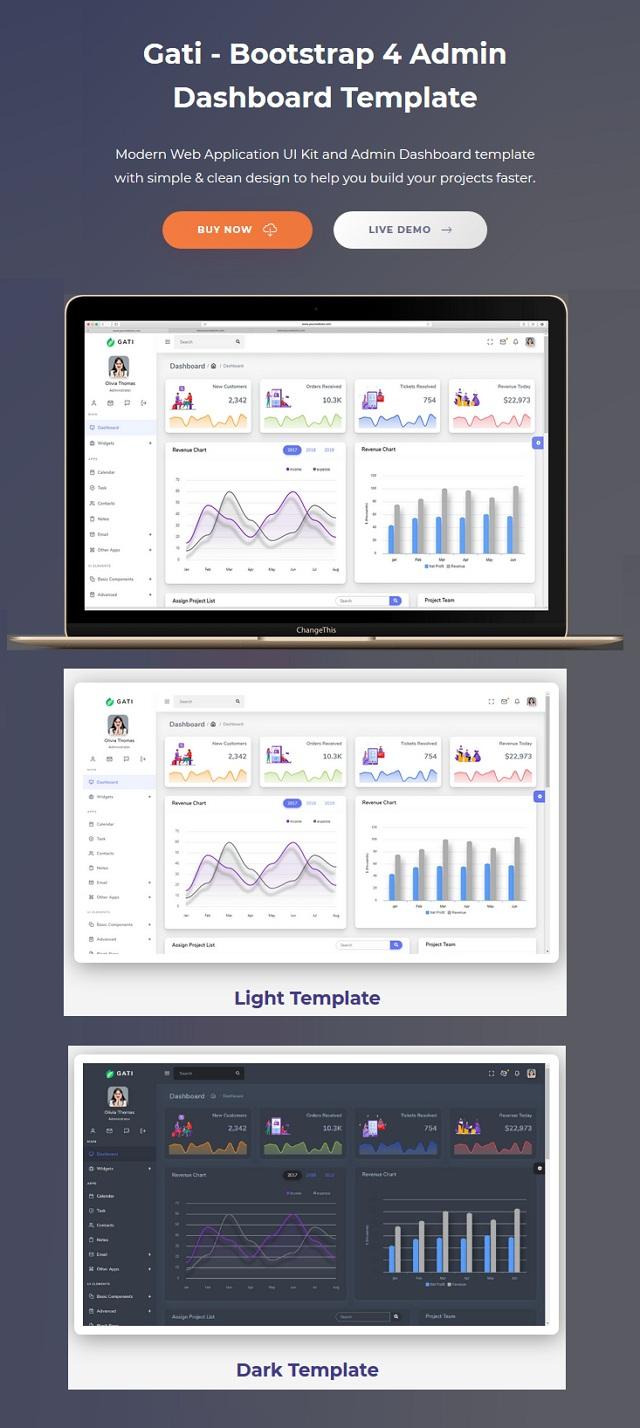 Bootstrap Admin Dashboard Template & UI Kit