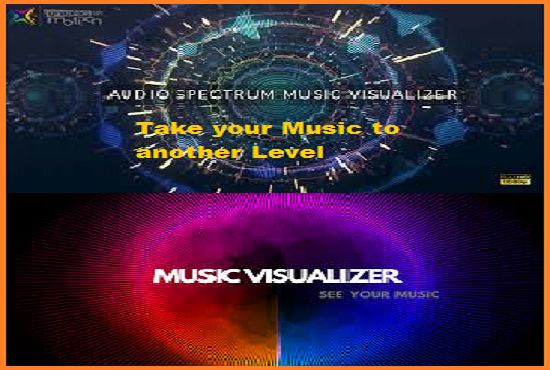 Music Visualizer for your song music visualization video | Audio visual video