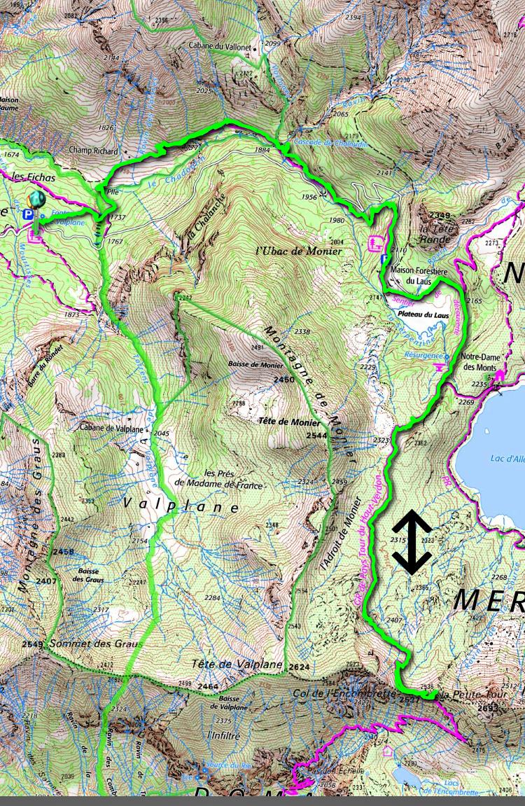 Col d'Encombrette track