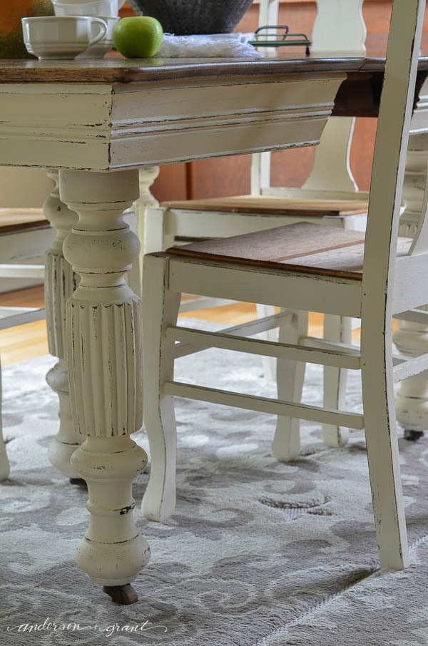 Updating a Vintage Dining Room Table and Chairs   | www.andersonandgrant.com