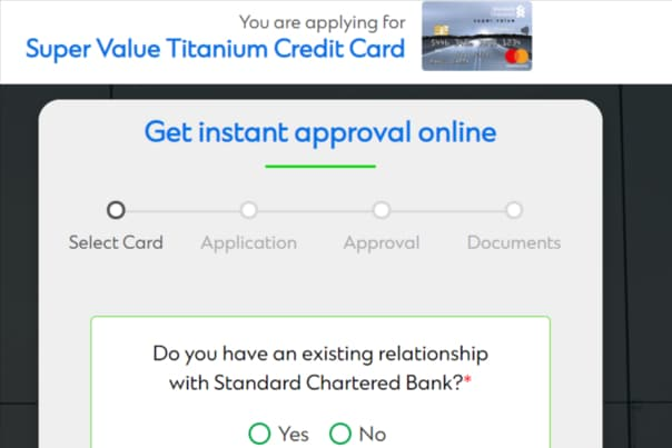 Standard Chartered Super Value Titanium Card Apply