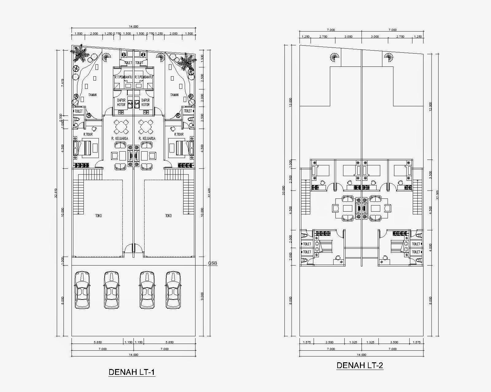 Desain Ruko Minimalis 2 Lantai Modern Elegan Terbaik 2020