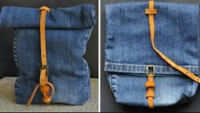 Tas Daur Ulang Vintage Dari Celana Jeans Bekas