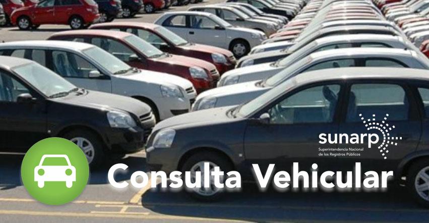 SUNARP: Consulta Placa Vehicular en Línea - www.sunarp.gob.pe