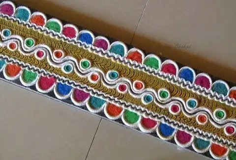 multi pattern rangoli design for decoration of home