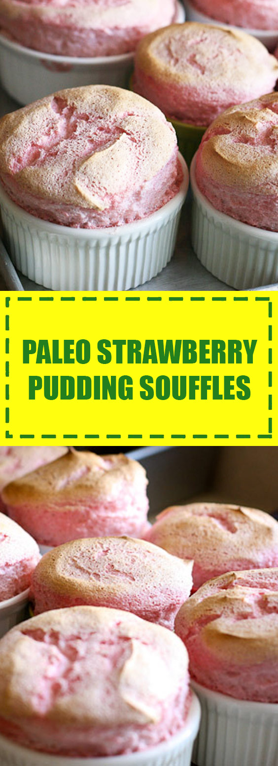 Strawberry Pudding Souffles