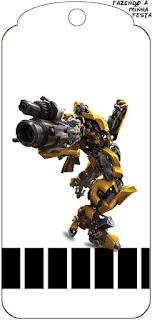 Para marcapáginas de Transformers.