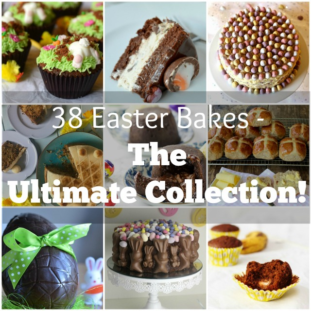 38 Easter Bakes, containing traditional Simnel cake & hot cross buns, through to fun Easter themed cupcakes, free-from Easter recipes and ideas to use up left over Easter chocolate