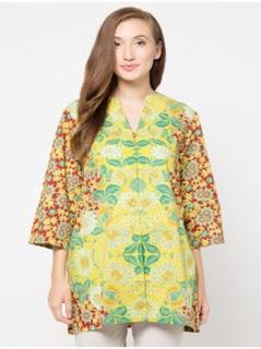 contoh model baju batik kerja wanita