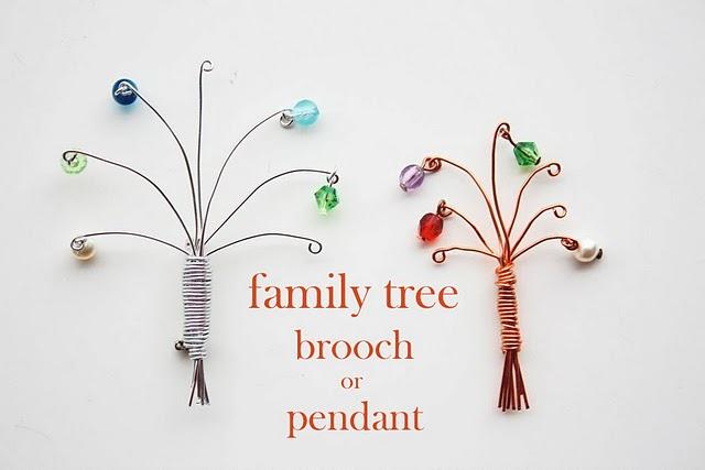 colgante, bisutería, árbol genealógico, familiar, manualidades, alambrismo