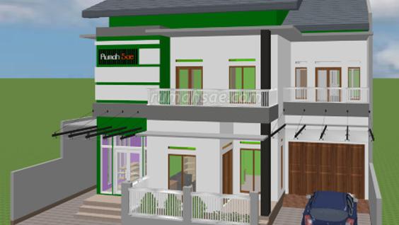 Denah Rumah Islami + Toko
