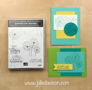 "16 Alternative ""Get & Go"" Project Ideas ~ Stampin' Up! Dandelion Wishes Cards ~  www.juliedavison.com #stampinup"