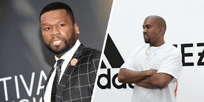 """Segudo o Rapper 50 Cent, a Candidatura Presidencial do Kanye West é """"uma diversão"""""""