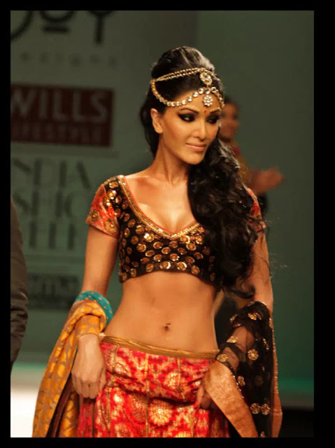 Koena Mitra with hair accessories