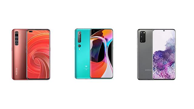 Realme X50 Pro vs Xiaomi Mi 10 vs Samsung Galaxy S20: Teknik Özellikler Karşılaştırma